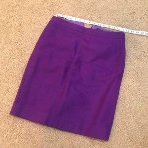 J. Crew Size 4 Purple Pencil Skirt